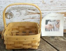 """Longaberger 2004 """"Tarragon"""" Basket with Handle Classic Stain Signed"""