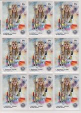 (9) 2014 TOPPS OLYMPIC LINDSEY VONN SILVER CARD #88 LOT ~ ALPINE SKIING GREAT
