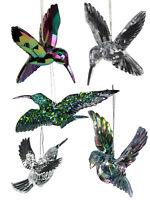 Gisela Graham Irridescent Bird Christmas Tree Decoration Hanging Hummingbird