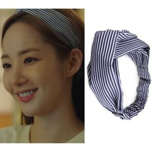 KATENKELLY Whats wrong with secretary kim FINE STRIPE HAIRBAND K Drama k Arafeel