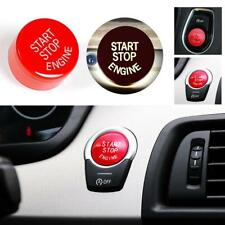 Red Start Stop Engine Push Button Switch Ignition Switch Panel Cover For BMW F10