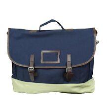 Fred Perry Cotton Satchel Messenger Shoulder Bag Blue Genuine L2145-266