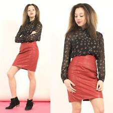 Para mujer Vintage 70's Retro Negro Con Estampado De Sheer Lindo Collar Blusa Camisa 10