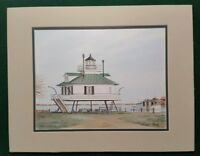 """""""Hooper Strait"""" by Keith Whitelock Matted Actual print 11 1/2"""" x 10"""""""