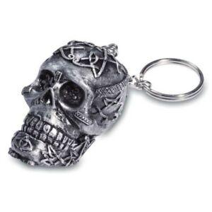 Schlüsselanhänger Totenkopf mit keltischen Verzierungen