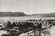 1934 Vintage Print 11x14 ~ YEMEN ~ Shibam Town Architecture Landscape Photo Art