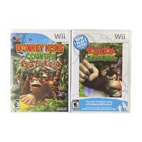 Nintendo Wii Video Game Lot Donkey Kong Country Returns Donkey Kong Junglebeat