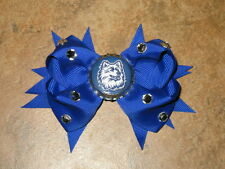 "NEW ""UCONN Huskies"" University Connecticut Girls Ribbon Hairbow Rhinestone NCAA"