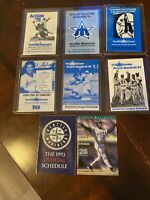 Lot Of 8 Vintage Seattle Mariners Pocket Schedules 1978-1997
