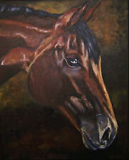 """CUSTOM HORSE PORTRAIT PAINTING by artist BETS 16"""" X 20"""" Your Wonderful Horse!!"""