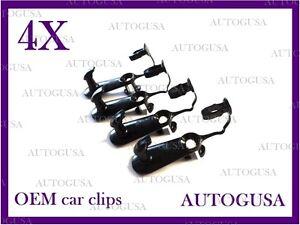 NEW OEM TOYOTA LEXUS BLACK CAR FLOOR MAT CLIPS FIXING HOOKS CARPET CLIPS 4PCS