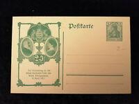 Deutsches Reich 08.04.1911 -Postkarte Ganzsache Erinnerung Silber-Hochzeit König