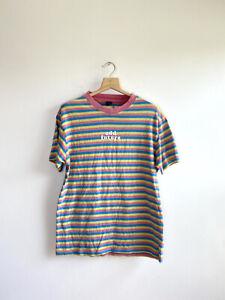 Odd Future Striped Shirt Size M OFWGKTA Pink Blue Yellow Tyler The Creator