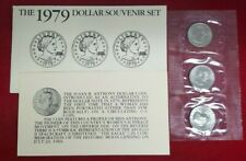 1979 $1 P,D,S Uncirculated Wide Rim (3) Coin Souvenir Set