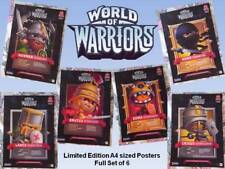 6x WORLD OF WARRIORS - A4 POSTER Toy Fantasy Warcraft NEW Combine For Huge Image