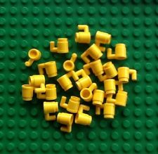 Lego Lot Of 25 Yellow Mugs Cups Coffee Drink Minifigure Accessories New