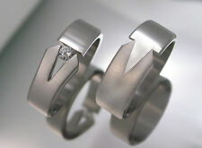 Eheringe Verlobungsringe Partnerringe Edelstahl mit Diamant PEB1