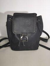 LANCEL PARIS GRAY LEATHER BACKPACK STYLE PURSE NATURAL DISTRESS