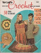 Vintage Crochet Patterns | McCall's Step-by-Step Crochet Lessons for Beginners