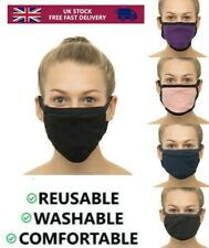 Face Mask Anti Dust Nose Mouth Reusable Washable 100% Cotton Protect Stretch UK
