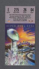 Washington Redskins vs Buffalo Bills Super Bowl XXVI football ticket stub