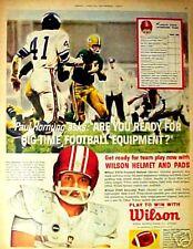 1962 Paul Hornung Green Bay Packers Wilson Football AD