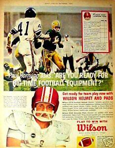 1962 Paul Hornung Green Bay Packers Wilson Football Helmet Equipment Sports AD