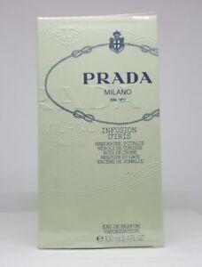 PRADA MILANO INFUSION D'IRIS 100ml EDP Spray Woman Genuine Perfume Sealed Box