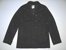 New Vans Womens Auto Pilot Wool Blend Button Up Full Zip Peacoat Jacket Small