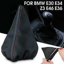 Shifter Shift Knob Gear Gaiter Boot Cover Fit BMW E30 E34 Z3 E46 E36 PU Leather