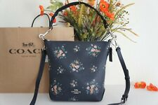 NWT Coach 91022 Small Abby Duffle With Rose Bouquet Print Shoulder Crossbody$350