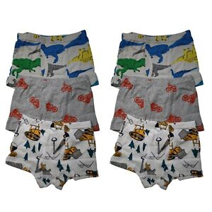 6 Packs 100% Cotton Toddler Little Boys Kids Underwear Breathable Boxer Briefs