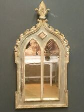 Large Medieval Gothic Style Church Mirror Authentic In Design