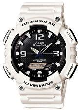 Casio Solar Analog/Digital Watch, White Resin, 100 Meter, 5 Alarms, AQS810WC-7AV