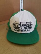 VINTAGE 1980s Mesh Snapback Randsburg California Baseball Style Cap Hat Trucker