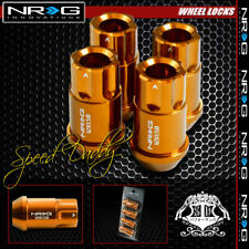 "4 X NRG ANODIZED M12X1.5 1.75""L LUG NUT LOCKS JDM CIVIC ACCORD/MUSTANG ROSE GOLD"