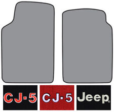 1974-1975 Jeep CJ5 Cutpile Carpet Logo Floor Mat Front Row 2pc