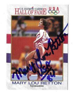 Mary Lou Retton Signed 1991 Impel US Olympic HOF #27 '84 5x Gold Gymnastics COA