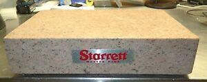 "STARRET MASTER PINK PRECISION GRANITE SURFACE PLATE 18 x 12 x 4"" NO LEDGE"