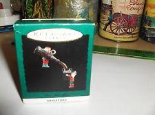 Pour Some More`1993`Miniature-Lit Elf Pouring Coca-Cola,Hallmark Tree Ornament
