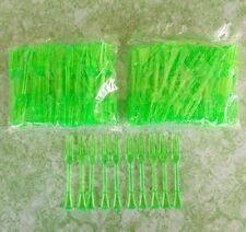 Disposable Mini Forks For Fruit Party Cocktail Cake Green Plastic 200pcs x3.5 in