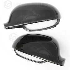 VW GOLF MK5 CARBON FIBRE EFF BLACK SIDE DOOR WING MIRROR COVERS CAPS HOUSINGS