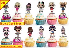 56 LOL SURPRISE DOLLS  Birthday Cup Cake Party Toppers Wafer Edible STAND UP