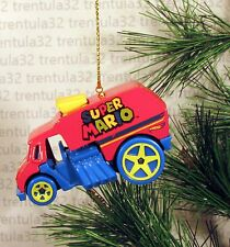 SUPER MARIO HOT ROD ICE CREAM TRUCK DRAGSTER RED BLUE CHRISTMAS ORNAMENT XMAS