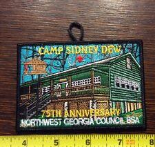 Camp Sidney Dew 75th Anniversary Patch Boy Scout BSA NW Georgia Council GA