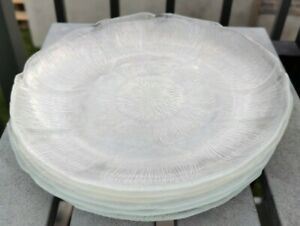 """6 Luncheon Plate Fleur by ARCOROC 9"""" No Chips Or Cracks"""