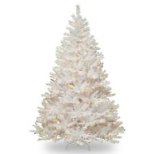 7 ft. Winchester Pine Hinged Christmas Tree with Silver Glitter - Clear, White