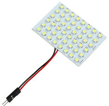 4W 3 Adapters 48 SMD 3528 LED Reading Panel Pure White Car Interior Dome Light