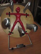 Throwzini Messer Werfer Block Messerblock mit Messern aus Edelstahl Wurfscheibe