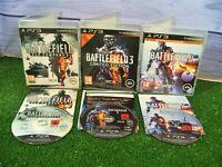 3 x PLAYSTATION 3 GAMES 'BATTLEFIELD 2, 3 & 4' GAMES **DISCS GOOD **PS3
